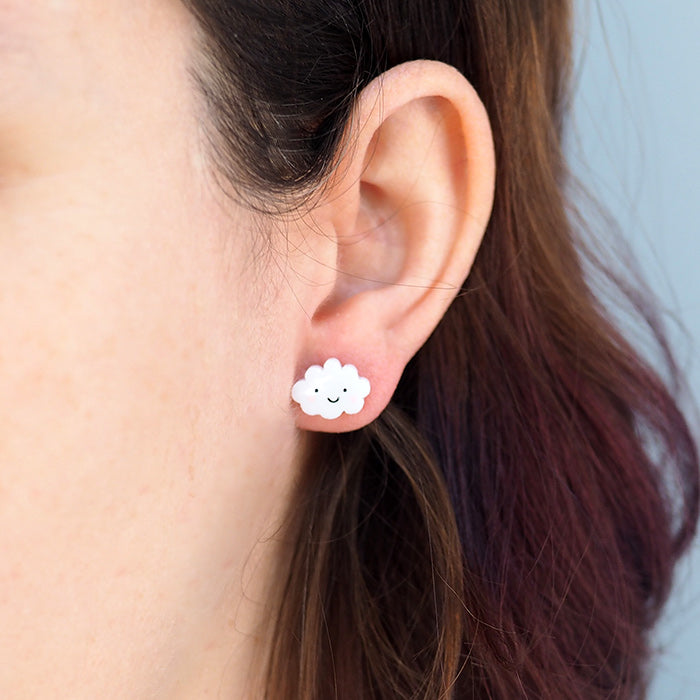 Load image into Gallery viewer, Happy Cloud Sad Cloud Earring Set