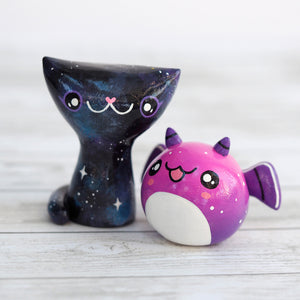 Load image into Gallery viewer, Galaxy Cat Figurine