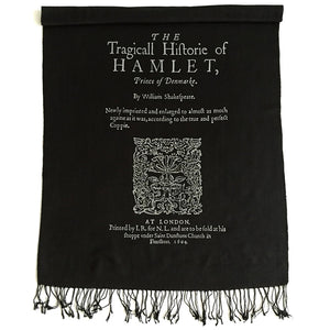 Load image into Gallery viewer, Hamlet Shakespeare Scarf Pashmina - Black