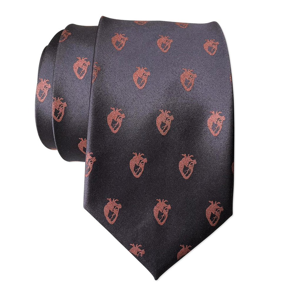 Load image into Gallery viewer, Anatomical Hearts Necktie - Grey