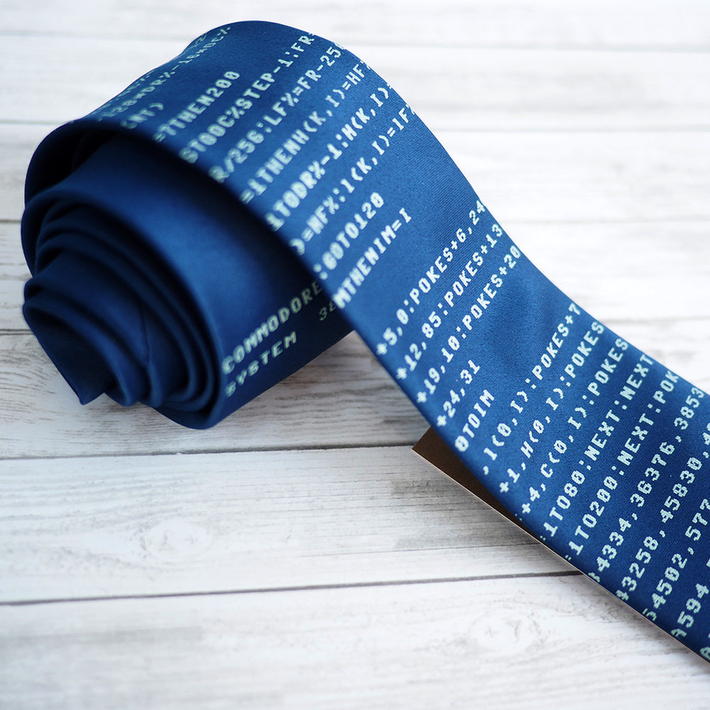 Commodore 64 Necktie - Blue