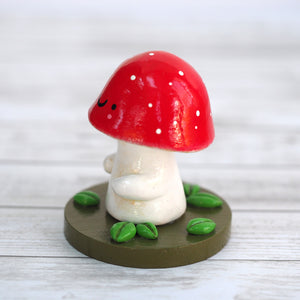 Load image into Gallery viewer, Handmade Woodland Mushroom Figurine