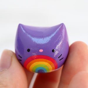 Load image into Gallery viewer, Pride Rainbow Pocket Kitty! Figurine