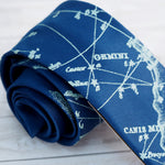 Galaxy Constellation Necktie - Blue