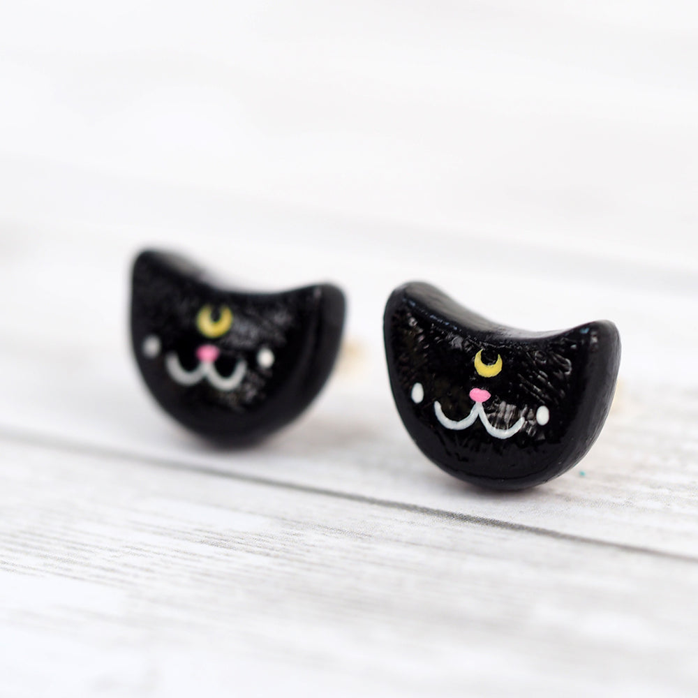 Load image into Gallery viewer, Luna The Cat Stud Earrings