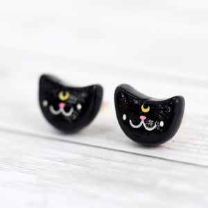 Luna The Cat Stud Earrings