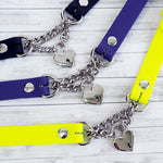 Heart Padlock Rubber Choker / Collar - 5 Colors