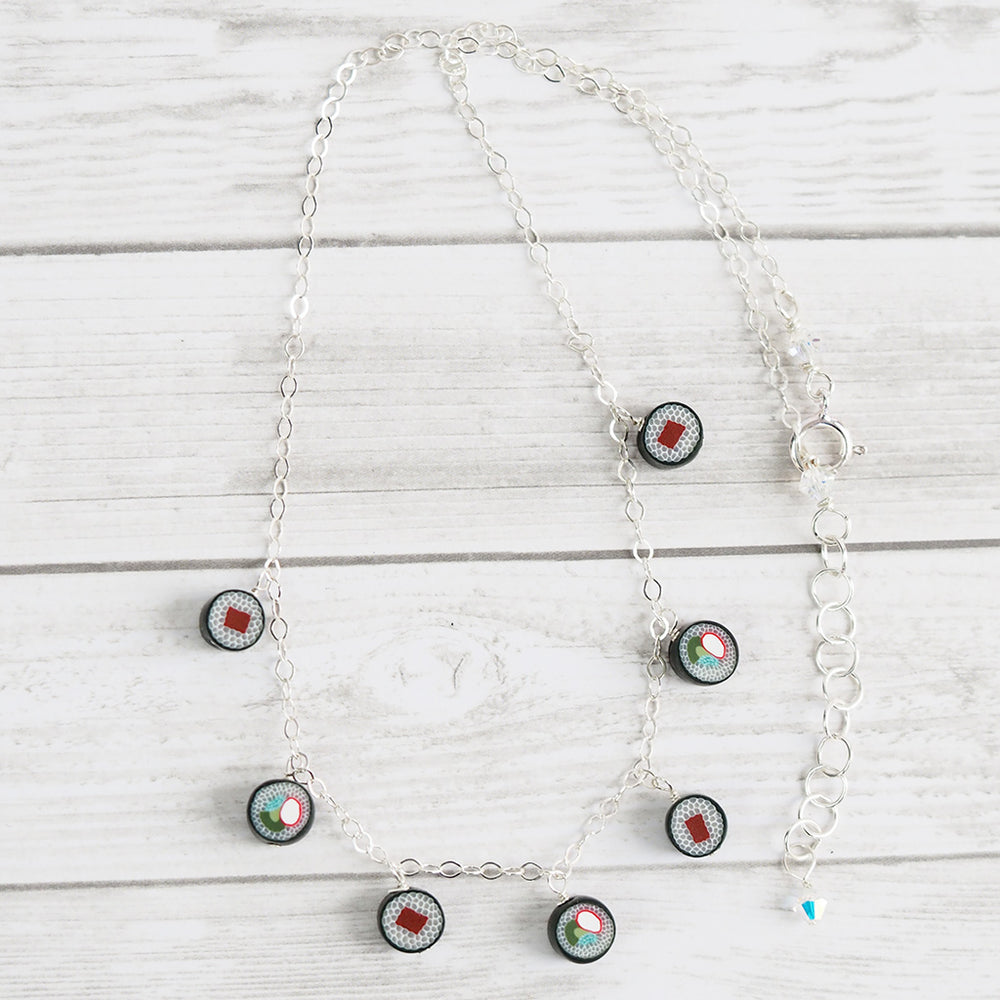 Sushi Dangle Choker Necklace