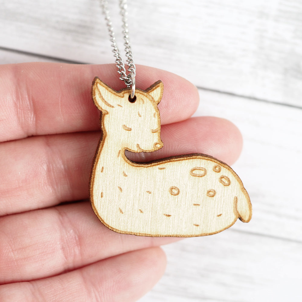 Sleeping Deer Necklace