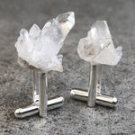 Quartz Crystal Cluster Cufflinks