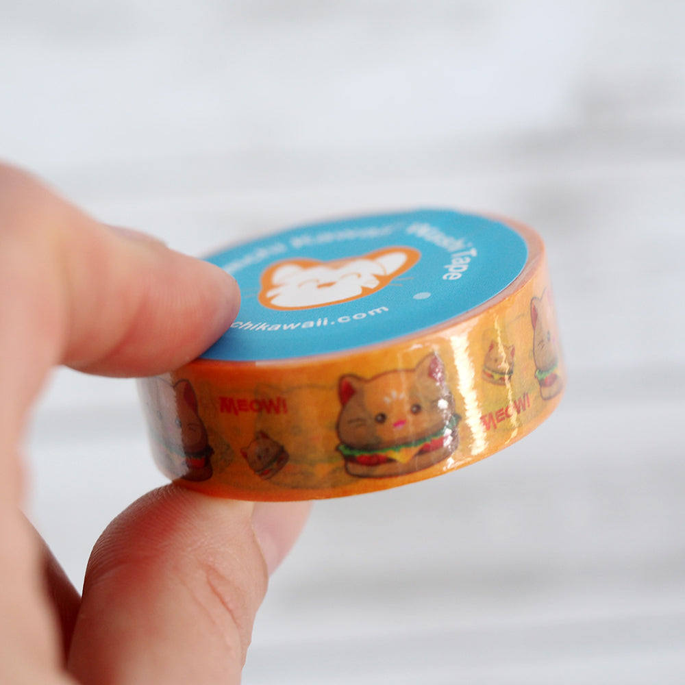 Washi Tape - Hamburger Kitty Cat