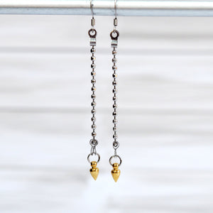 Load image into Gallery viewer, Spike Drop Earrings