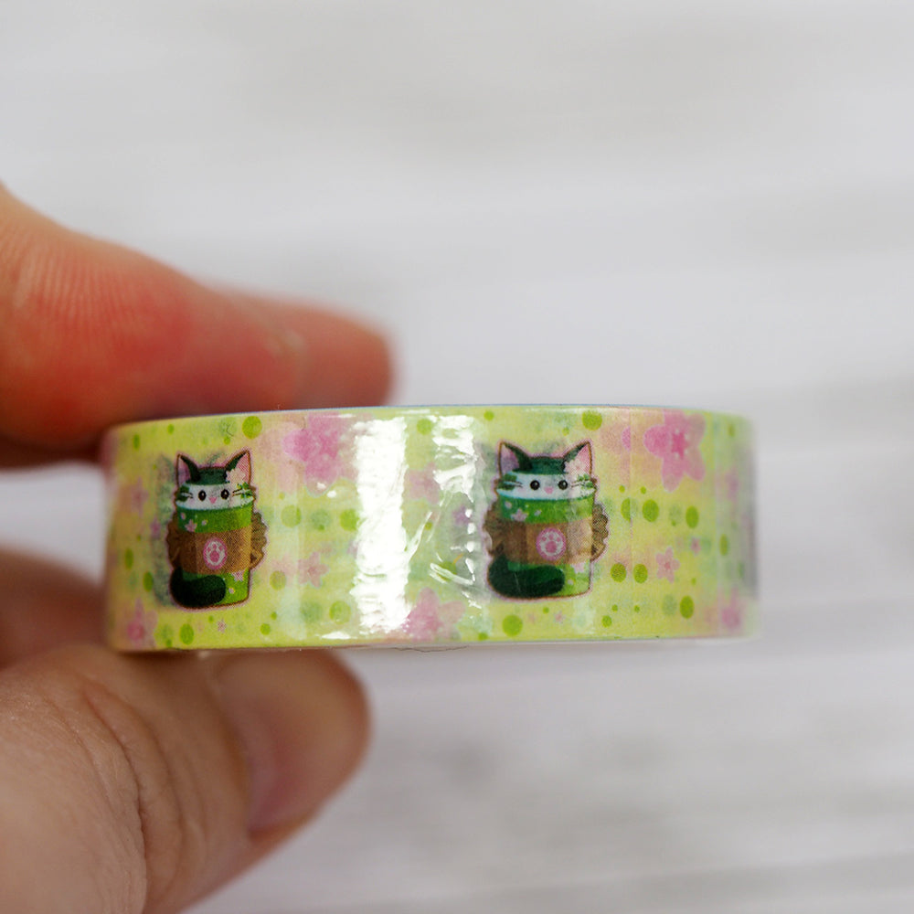Washi Tape - Matcha Tea Kitty Cat