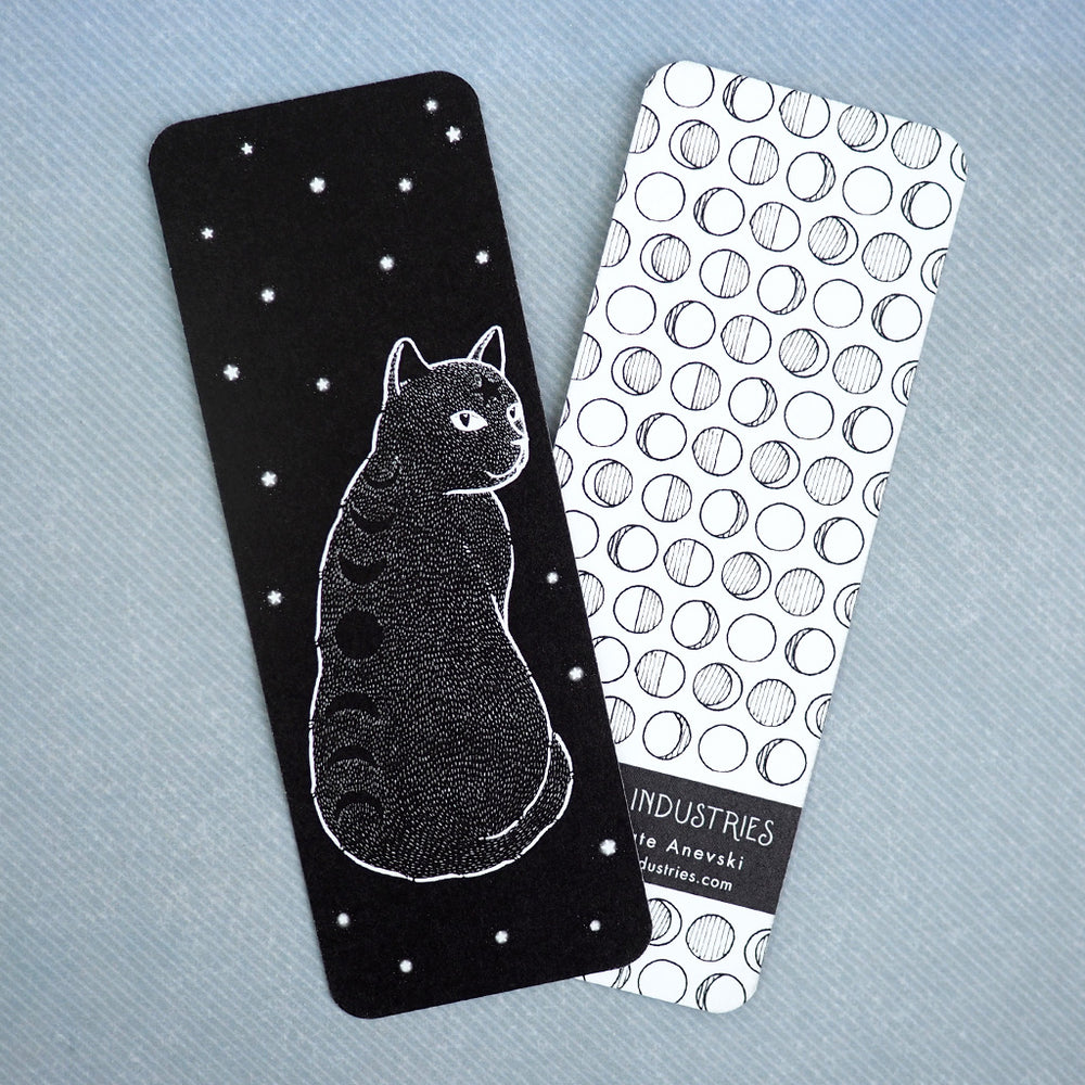Bookmark - Moon Phases Cat