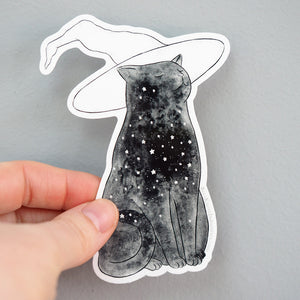 Load image into Gallery viewer, Starry Witchcat - Vinyl Sticker