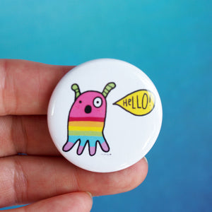 Hello! Cutie Alien Pin