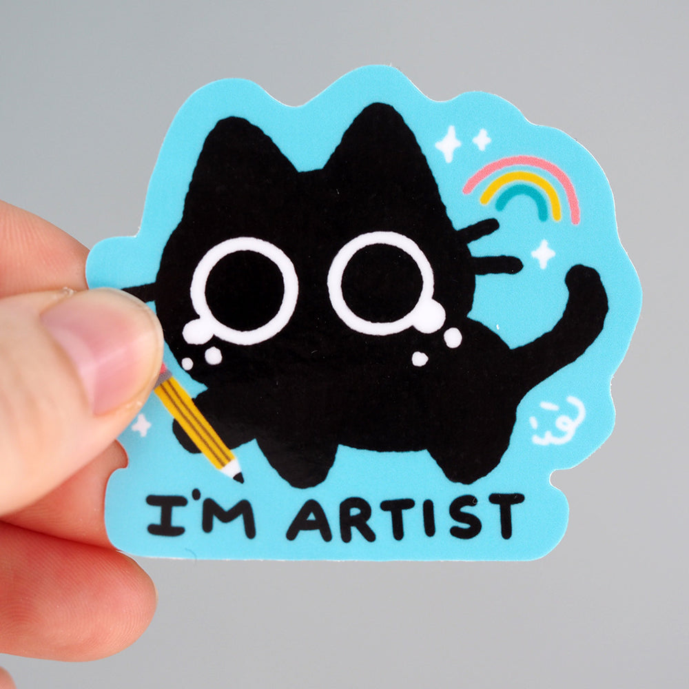 Load image into Gallery viewer, 'I'm Artist' Kitty Cat - Vinyl Sticker