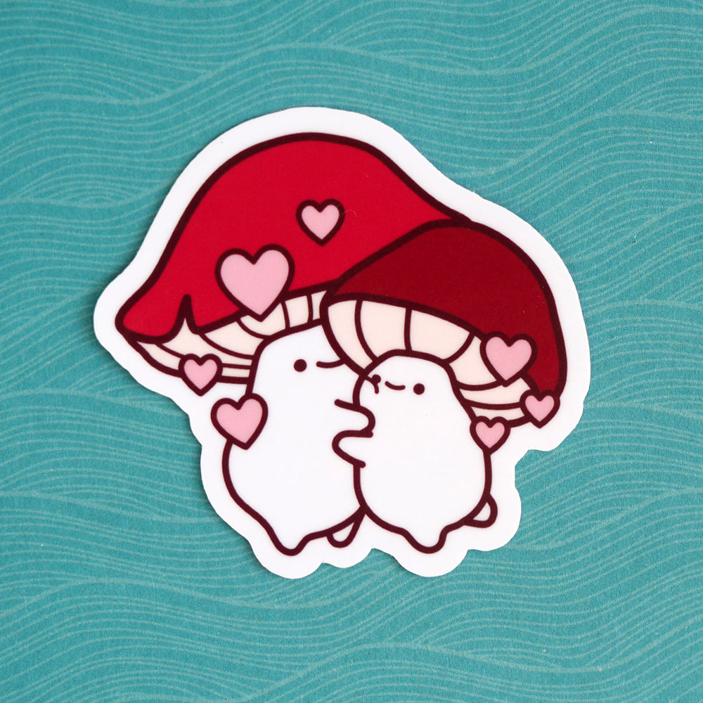 Hugging Mushrooms - Vinyl Sticker