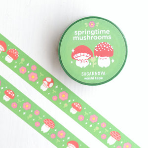 Washi Tape - Spring Mushrooms