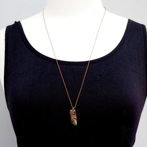 Load image into Gallery viewer, Oak Forest Crystal Necklace