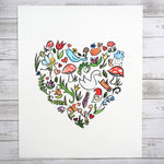 Woodland Heart - Watercolor Fine Art Print