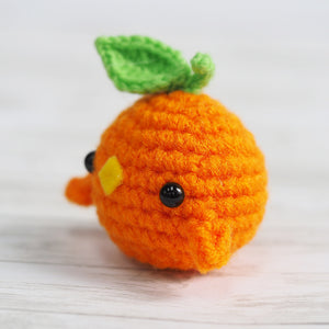 Load image into Gallery viewer, Fruit Birbs! Clemenbirb Amigurumi