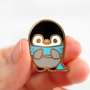 Cozy Penguin - Metal Enameled Pin