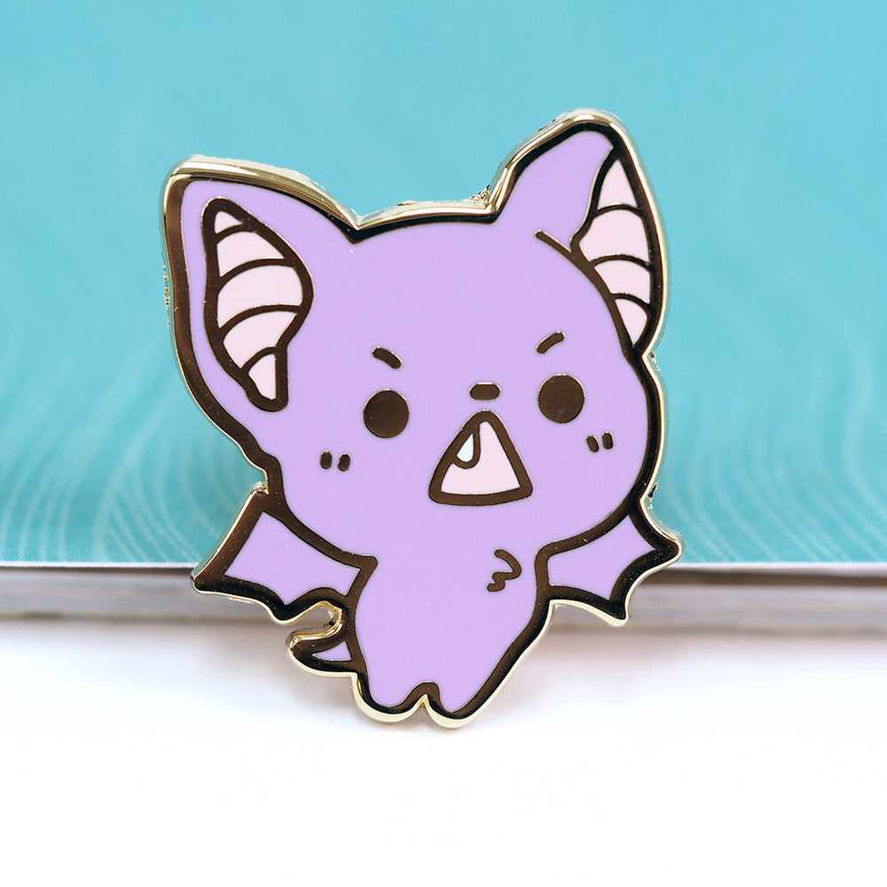 Load image into Gallery viewer, Baby Bat Toof - Metal Enameled Pin