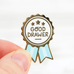 'Good Drawer' Award - Metal Enameled Pin