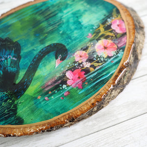 Fine Art Wood Panel - Black Swan