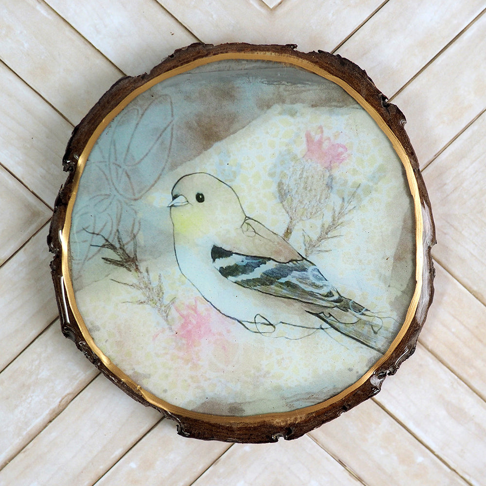 Load image into Gallery viewer, Fine Art Wooden Plaque - Goldfinch