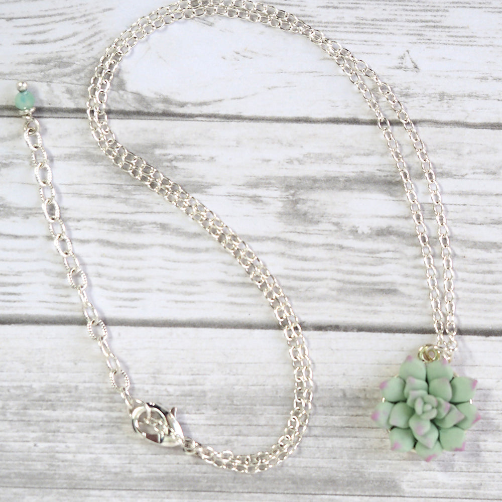 Succulent Pendant Necklace