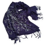 Galaxy Constellation Scarf Pashmina - Navy Blue