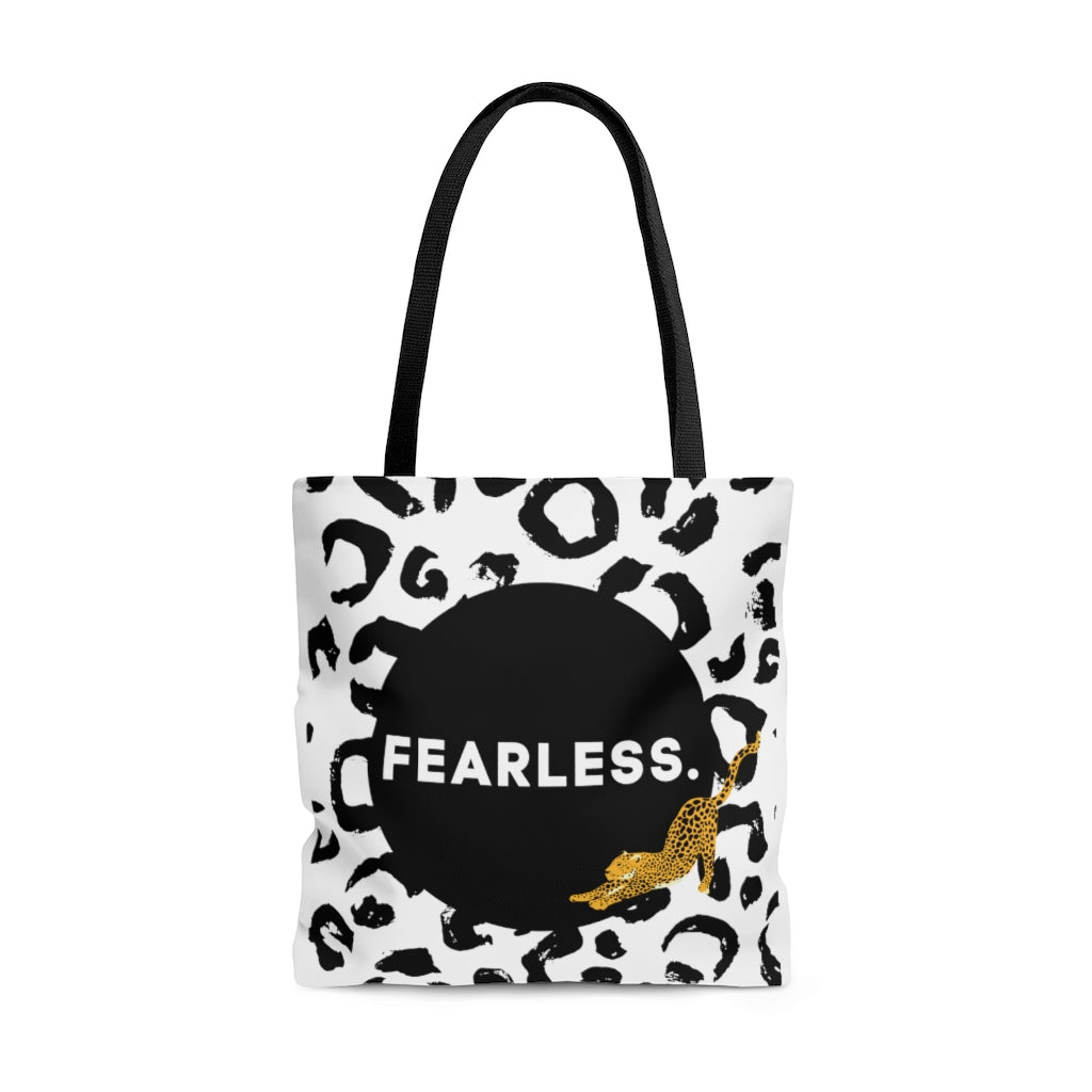 Fearless Leopard Print Shopping and Tote Bag