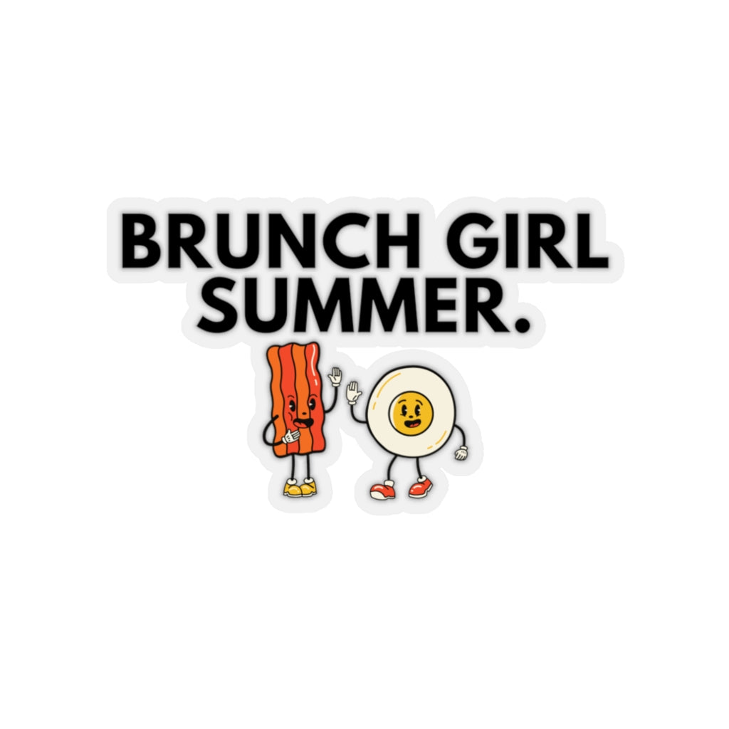 Brunch Girl Summer Kiss-Cut Stickers