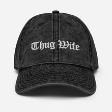 Load image into Gallery viewer, Thug Wife, Praying Wife, Christian Wife, Vintage Cotton Twill Cap