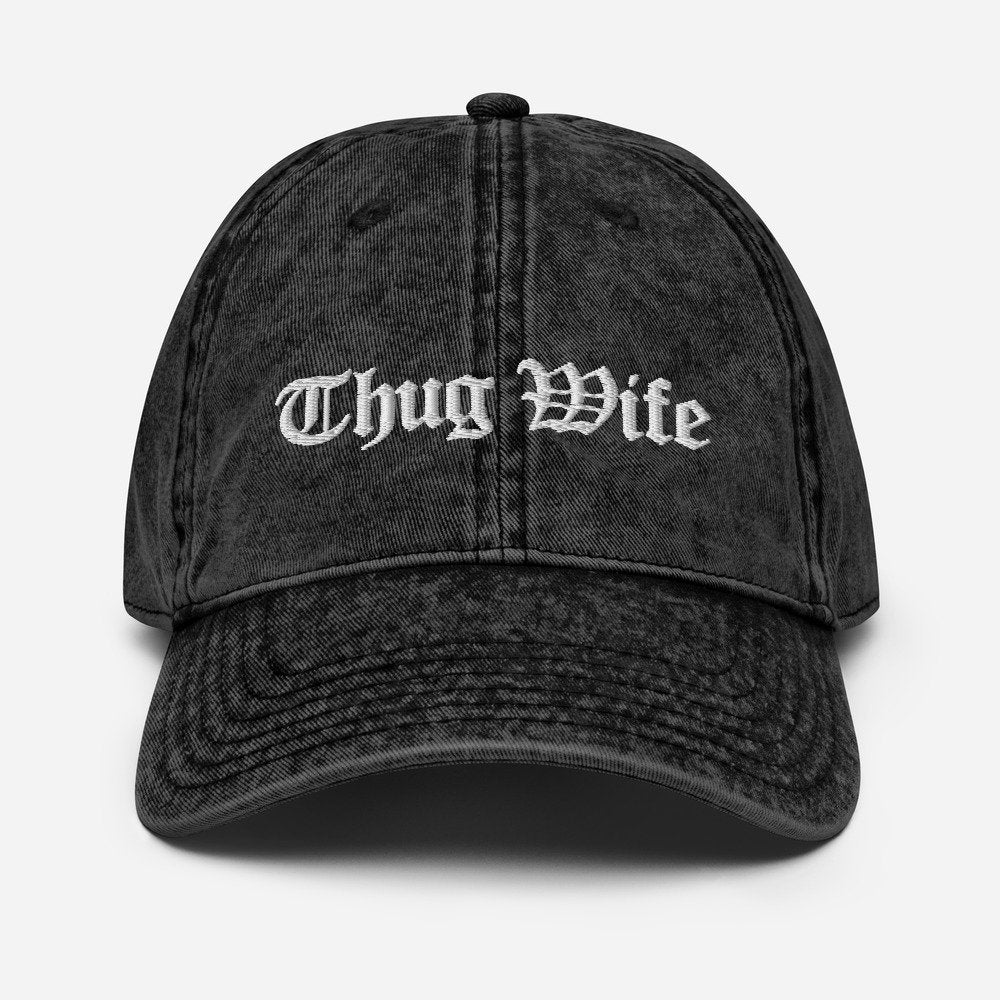 Thug Wife, Praying Wife, Christian Wife, Vintage Cotton Twill Cap