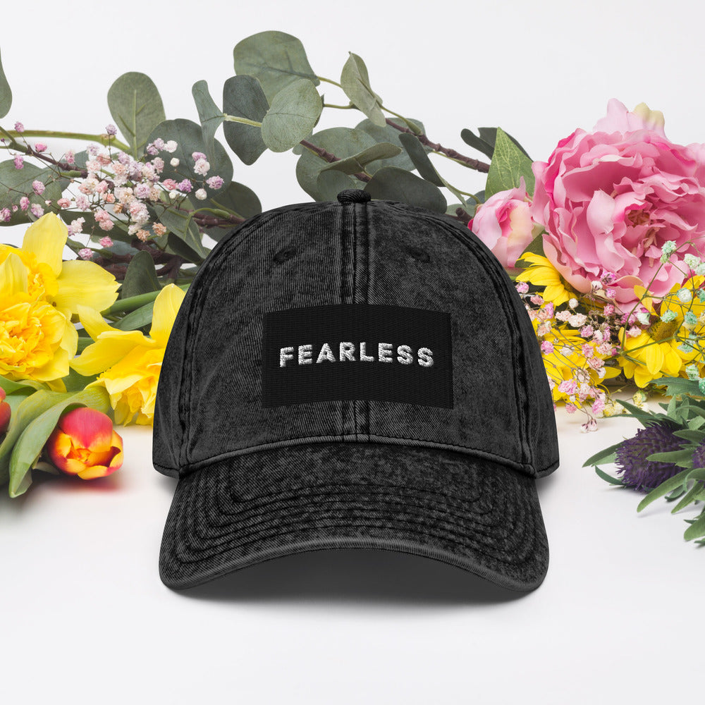 Fearless Christian Vintage Cotton Twill Baseball Cap