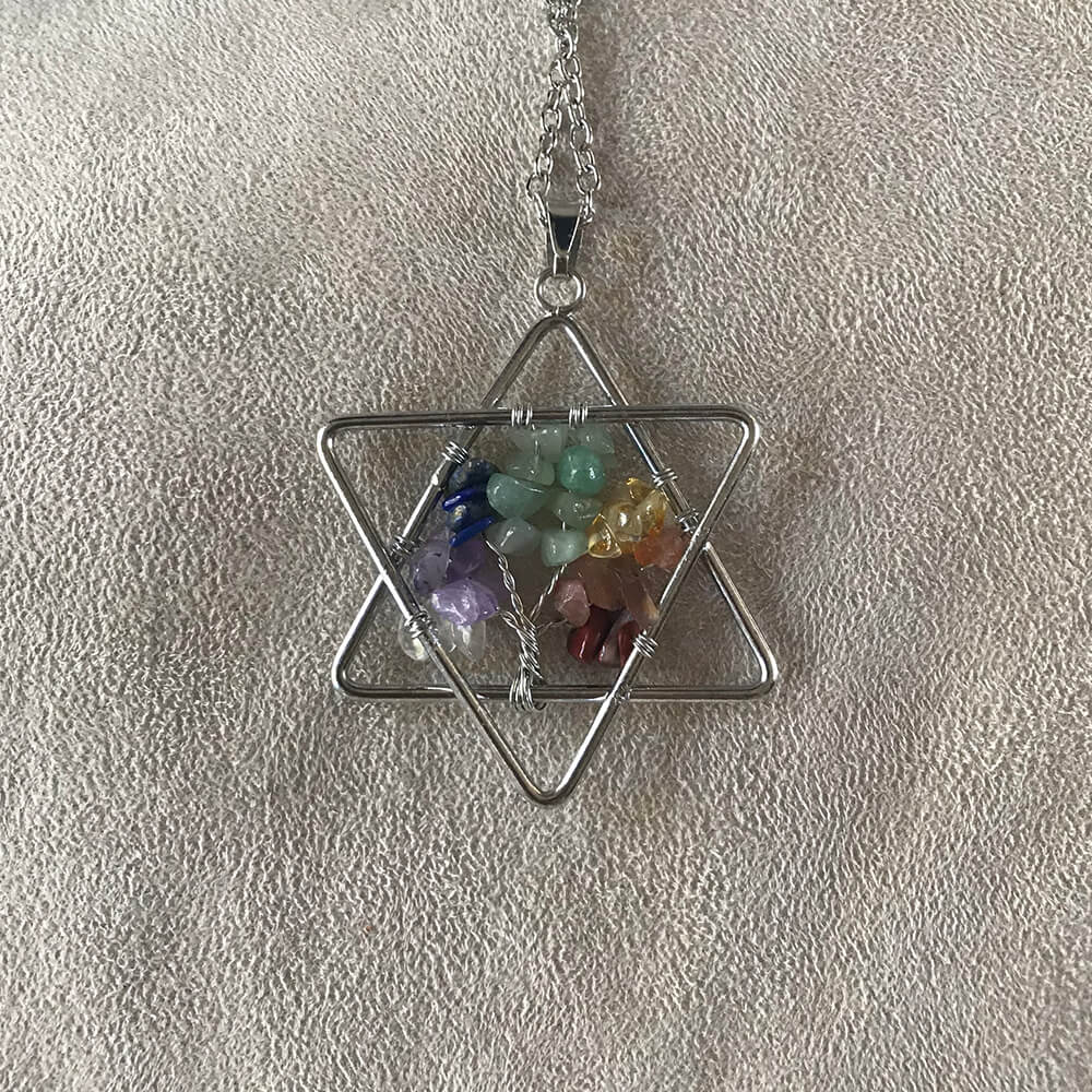 Chakra Necklace Star of David