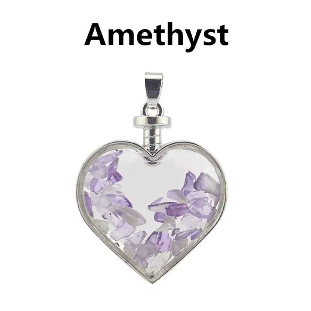Amethyst Necklace Floating Chip