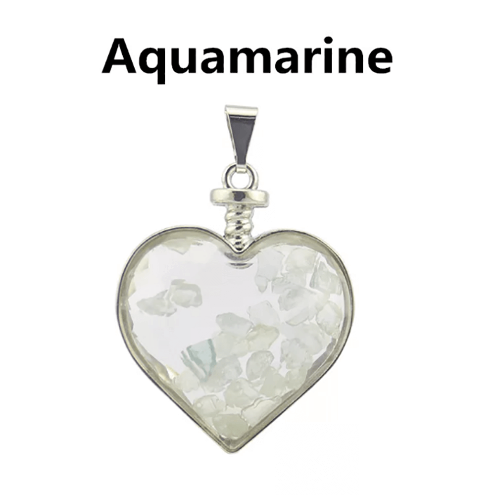 Aquamarine Necklace Floating Chip