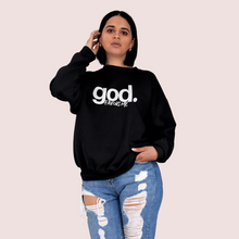 Load image into Gallery viewer, God Favors Me Black Crewneck Sweatshirt