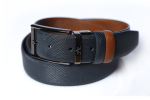 Belt 100% Leather Color 7534-NAVY