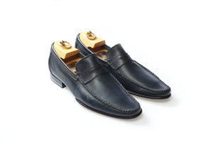 Shoes 100% Leather Stefano Navy