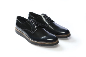 Shoes 100% Leather Dark Blue