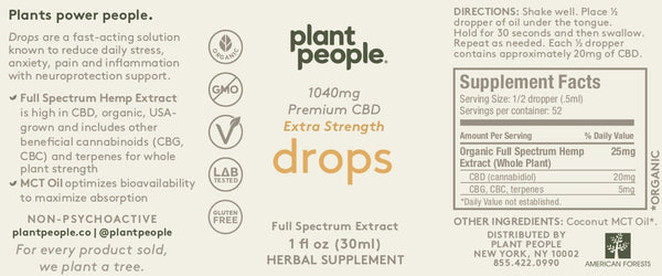 Plant People - CBD Drops - 1040 mg - 2