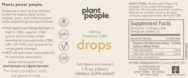 Plant People - CBD Drops - 1040 mg - 1