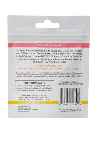 Kine - Pink Grapefruit CBD Drops by Kine - 50mg CBD (5 x 10mg lozenges) - 1