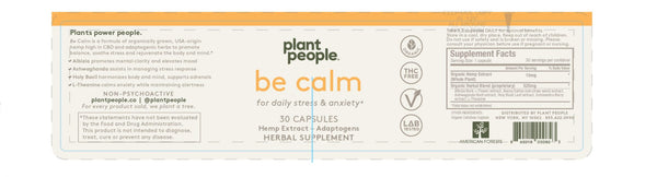 Plant People - Be Calm CBD Capsules 450mg - Default Title - 2