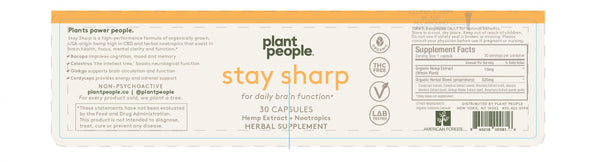 Plant People - Stay Sharp CBD Capsules 450mg - Default Title